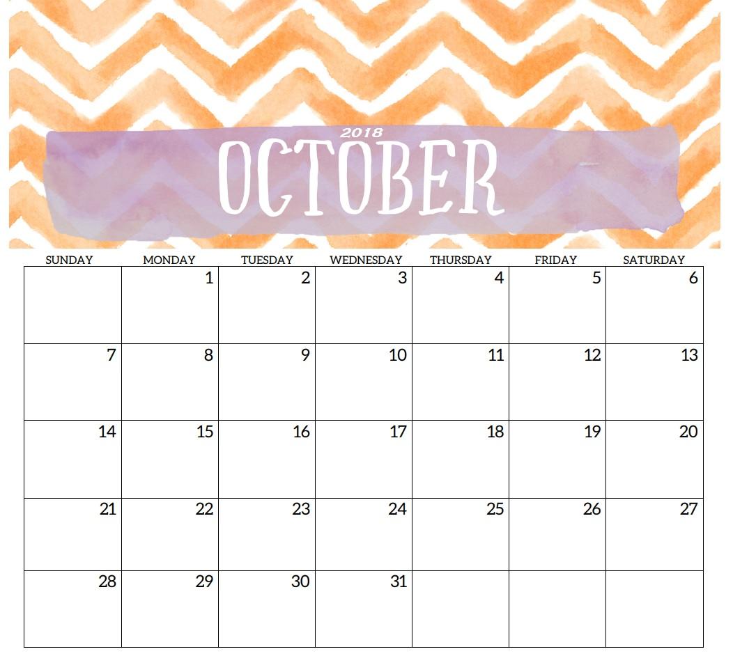 October 2019 Cute Calendar