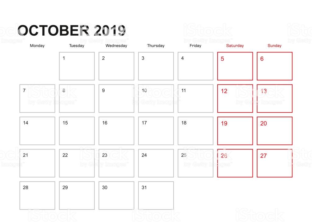 October 2019 Wall Calendar Designs