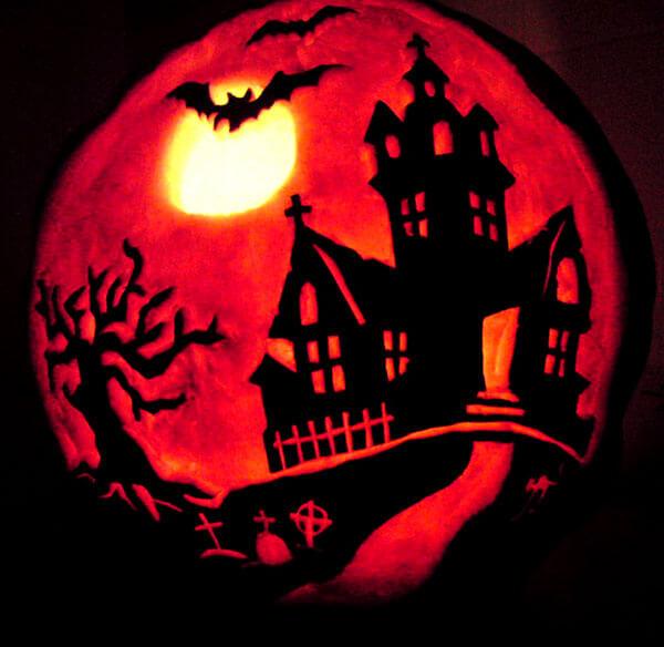 spooky pumpkin Carving