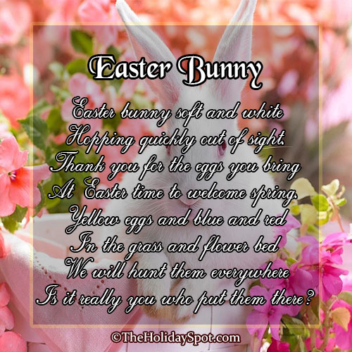 Happy Easter Bunny Speeches