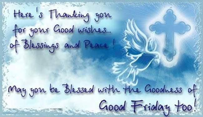 Happy Good Friday Greeting Msg