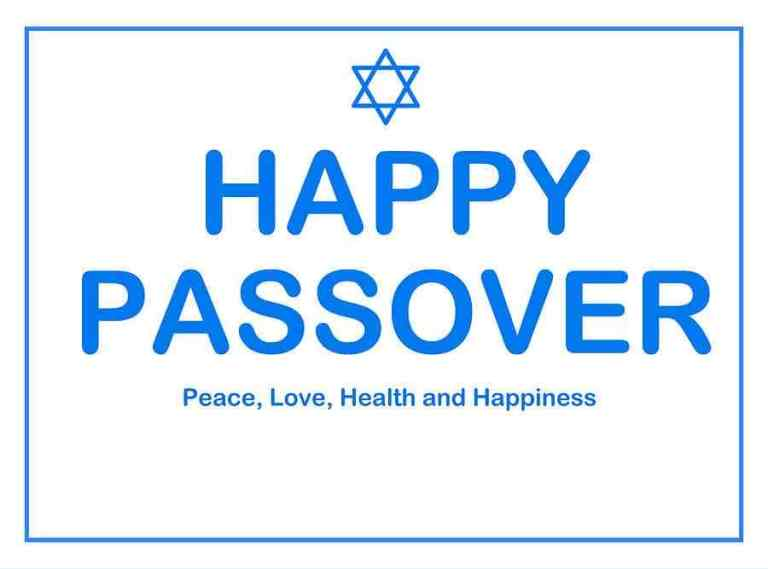 Happy Passover Greetings Cards