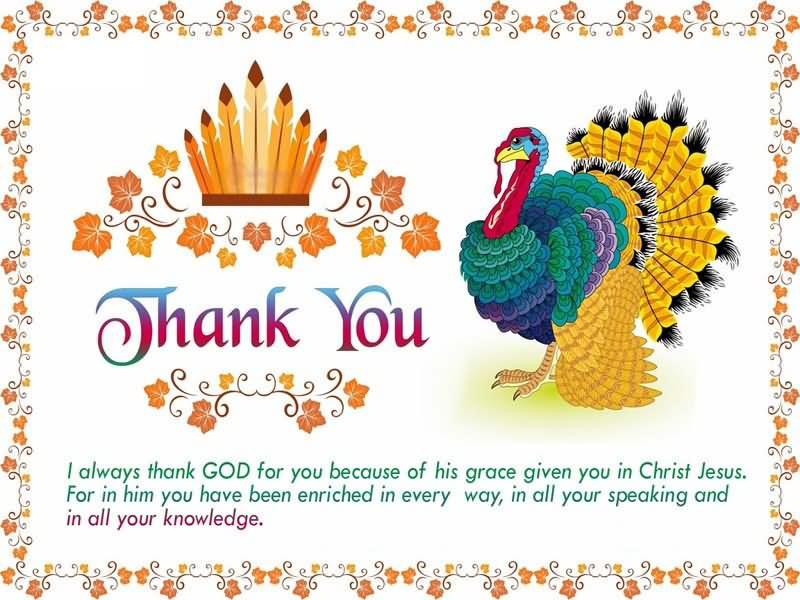Amazing Greeting Card for Thanksgiving Day